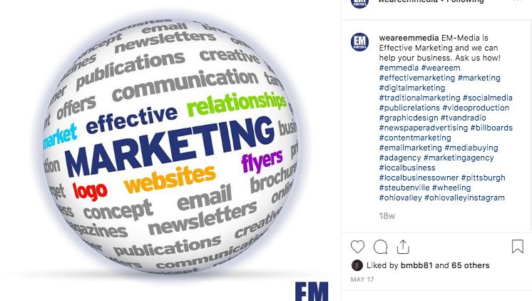 Social Media – Em Media Instagram