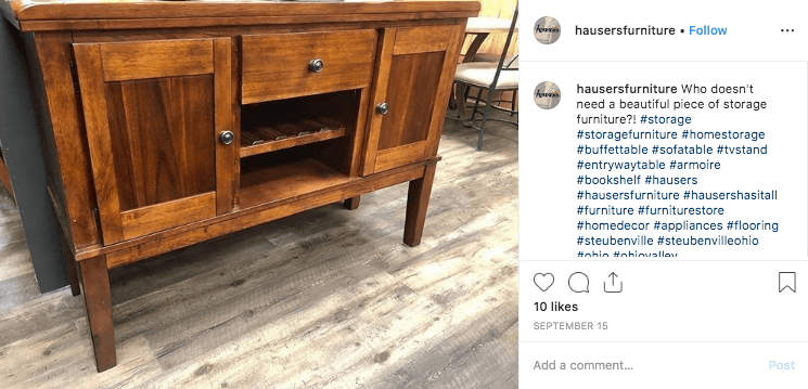 Social Media – Hauser's Instagram