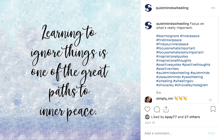Social Media – Quiet Minds Instagram