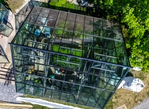 greenhouse drone shot Em Media