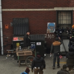 Seth Rogan filming Pickled in Pittsburgh next to EM Media