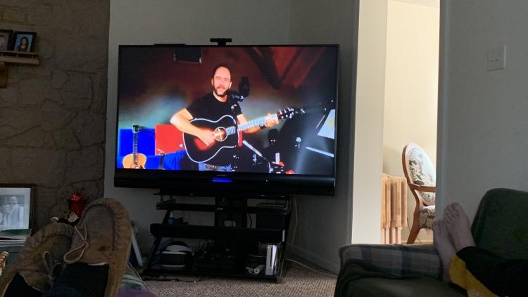 Larae and Chris watching Dave Matthews
